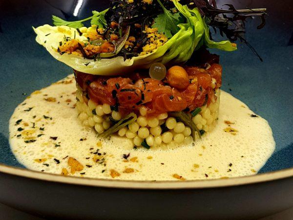 Recipe: Couscous Salad – Salmon – Dashi Butter Sauce